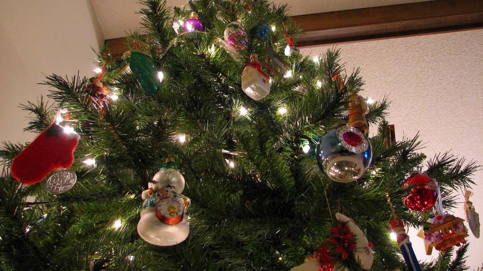 Pohon natal untuk tahun baru