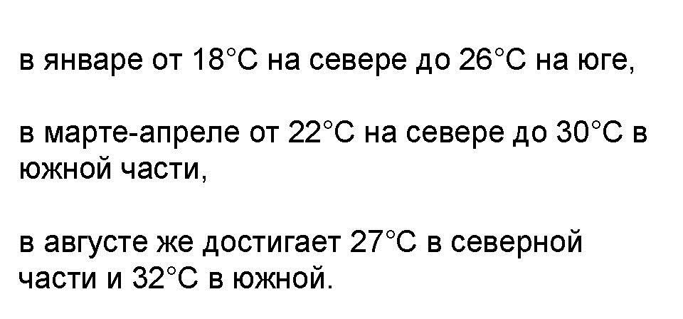 Gjennomsnittlig temperatur på vannet i Rødehavet
