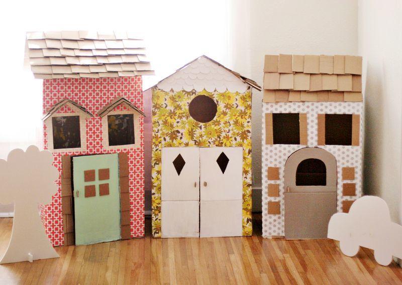 Как сделать домик для кукол своими руками из картона: схема, фото