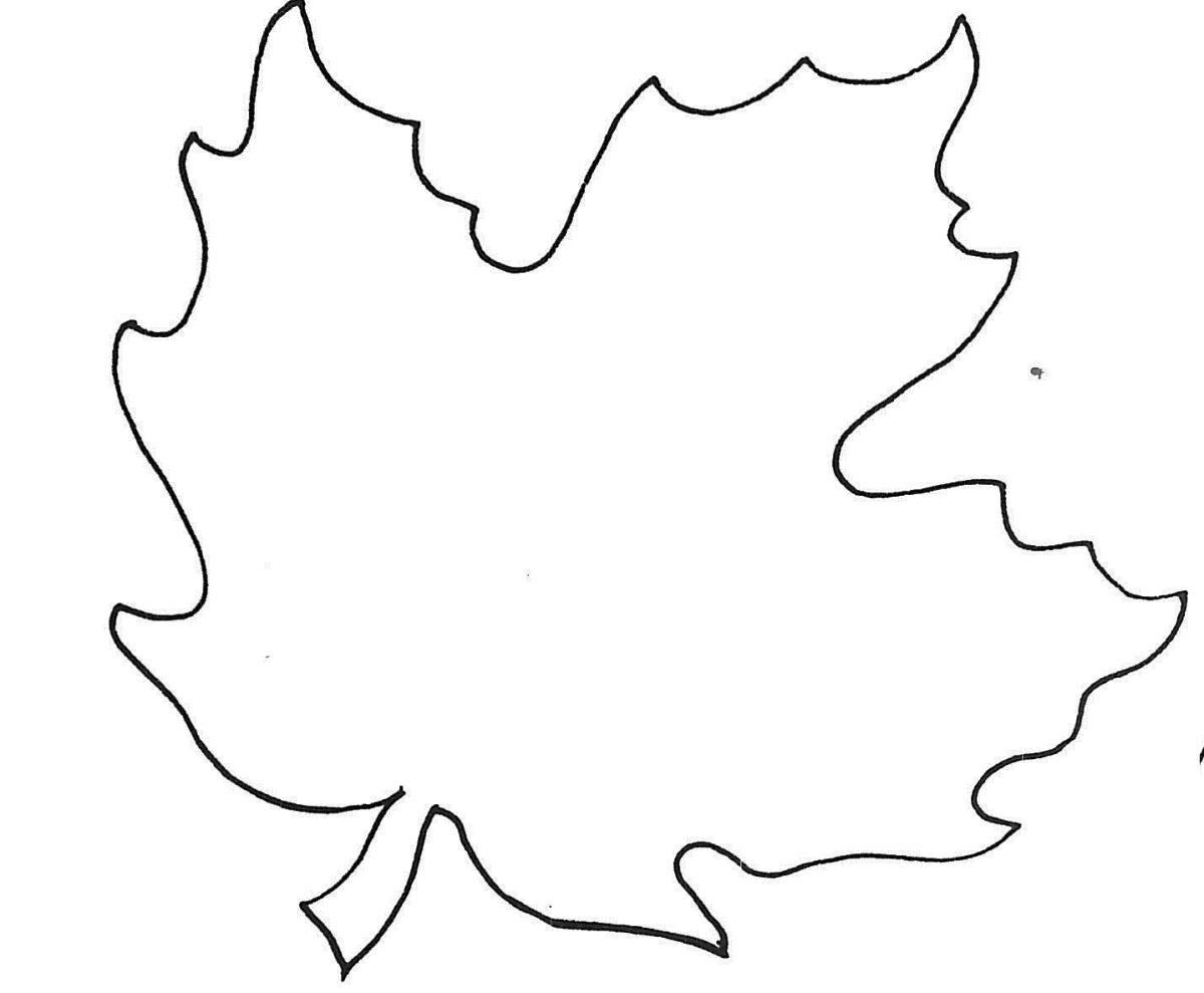 Открытка, шаблоны осенний лист
