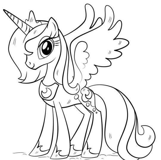 Unicorn Gambar Yang Indah Untuk Membuat Sketsa Ringan Dan Kompleks