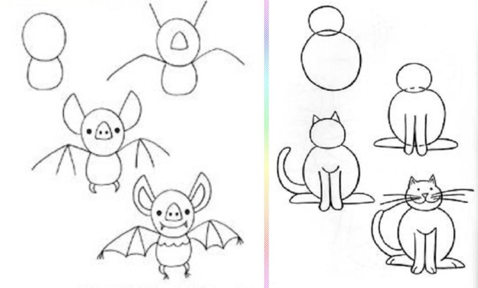Рисунки карандашом простые для начинающих прикольные поэтапно