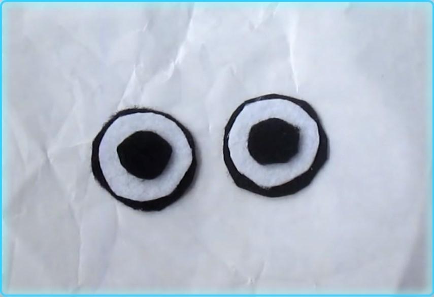 Глазки для костюма снеговика