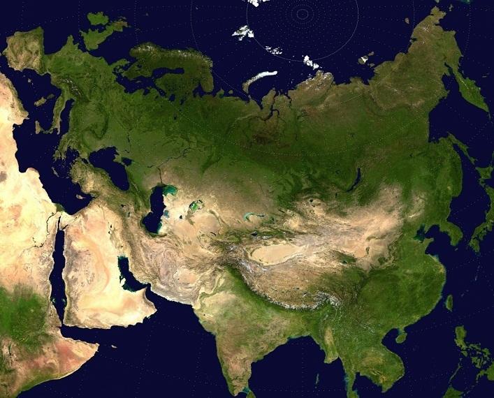 Benua terbesar adalah Eurasia