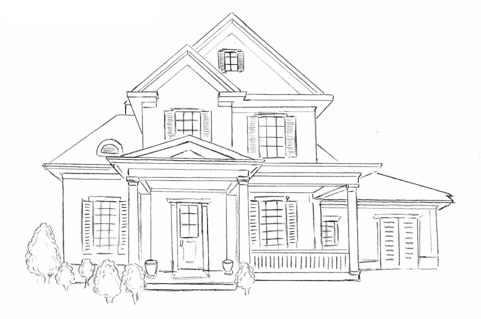 Как-нарисовать-дом