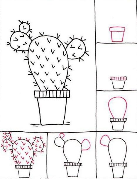 Комнатные растения рисунки