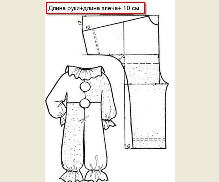 The pattern of jumpsuit to the carnival costume of parsley for the boy with his own hands