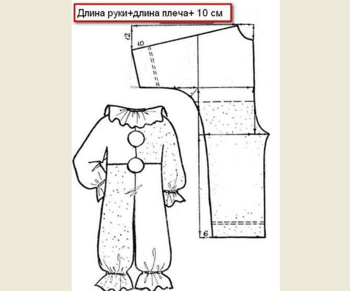 El patrón de mono al traje de carnaval del perejil para el niño con sus propias manos.