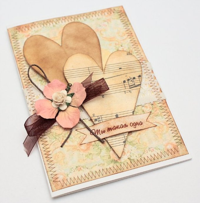 Готика мастер, скрапбукинг открытки с валентинками