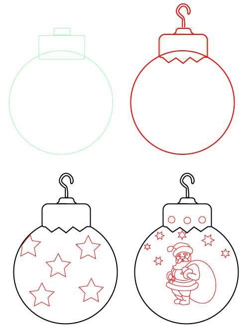 Ballon du Nouvel An avec Santa Claus