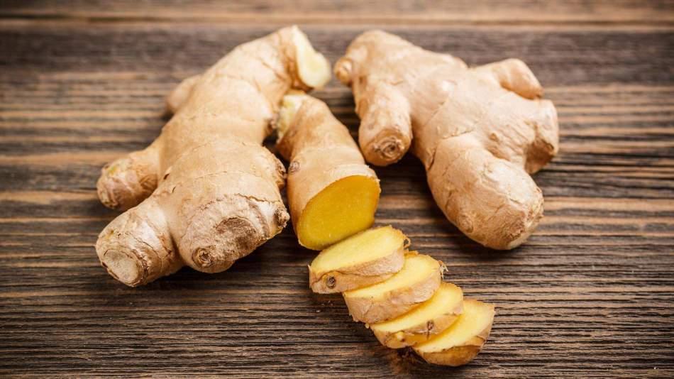 Ginger root for landing