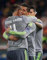 Ramos hugs and James jealous