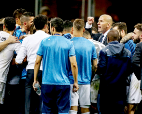 Gather before second half of extra time
