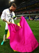 <> at Stadio Giuseppe Meazza on May 28, 2016 in Milan, Italy.