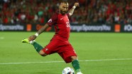 SAINT-ETIENNE, FRANCE - JUNE 14: Ricardo Quaresma of Portugal in action during the UEFA EURO 2016 Group F match between Portugal and Iceland at Stade Geoffroy-Guichard on June 14, 2016 in Saint-Etienne, France. (Photo by Julian Finney/Getty Images)