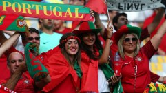 Supporters ahead of the UEFA Euro 2016 Final between Portugal and France