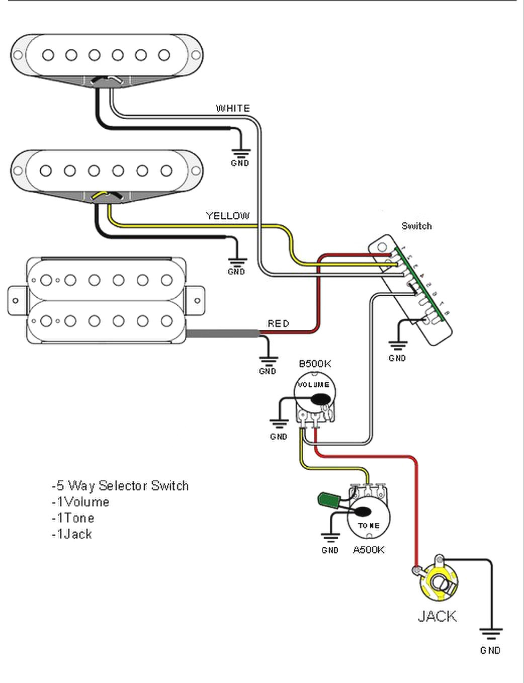 Strat Guitar Wiring Diagram