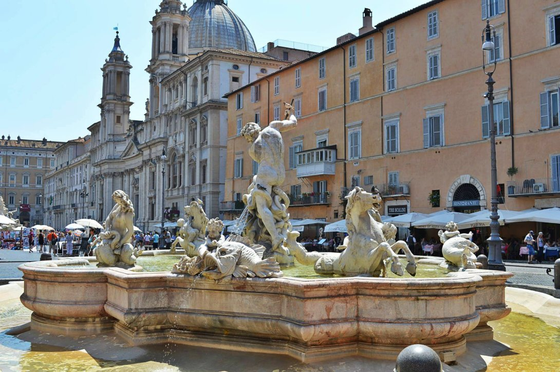 rzym fontanny