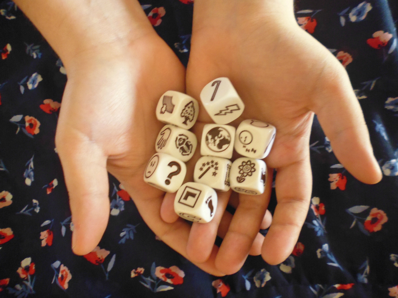 Story Cubes - rzucanie kostkami