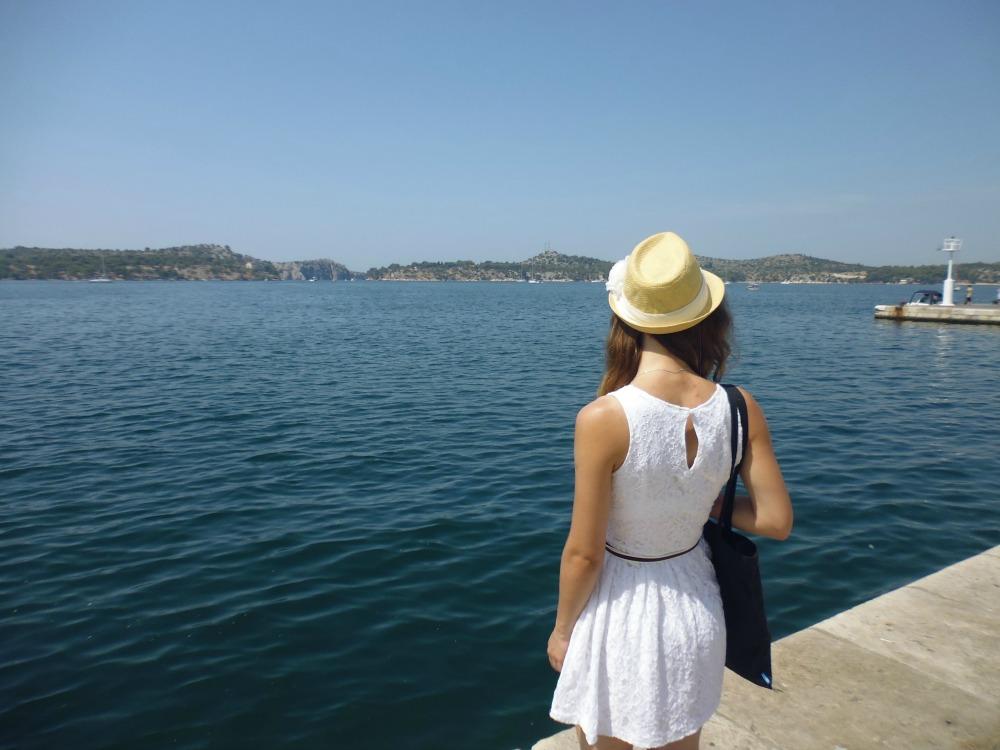 Szybenik w Chorwacji - najpiękniejszy widok na morze