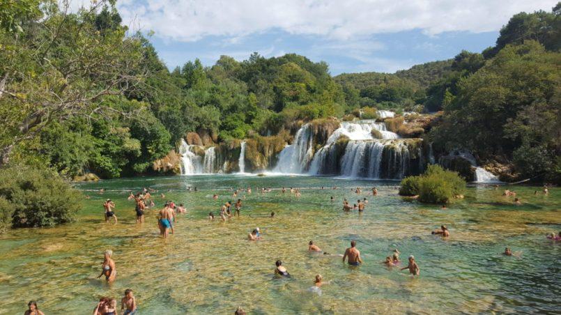 Kąpiel w Krka - wodospady Krka