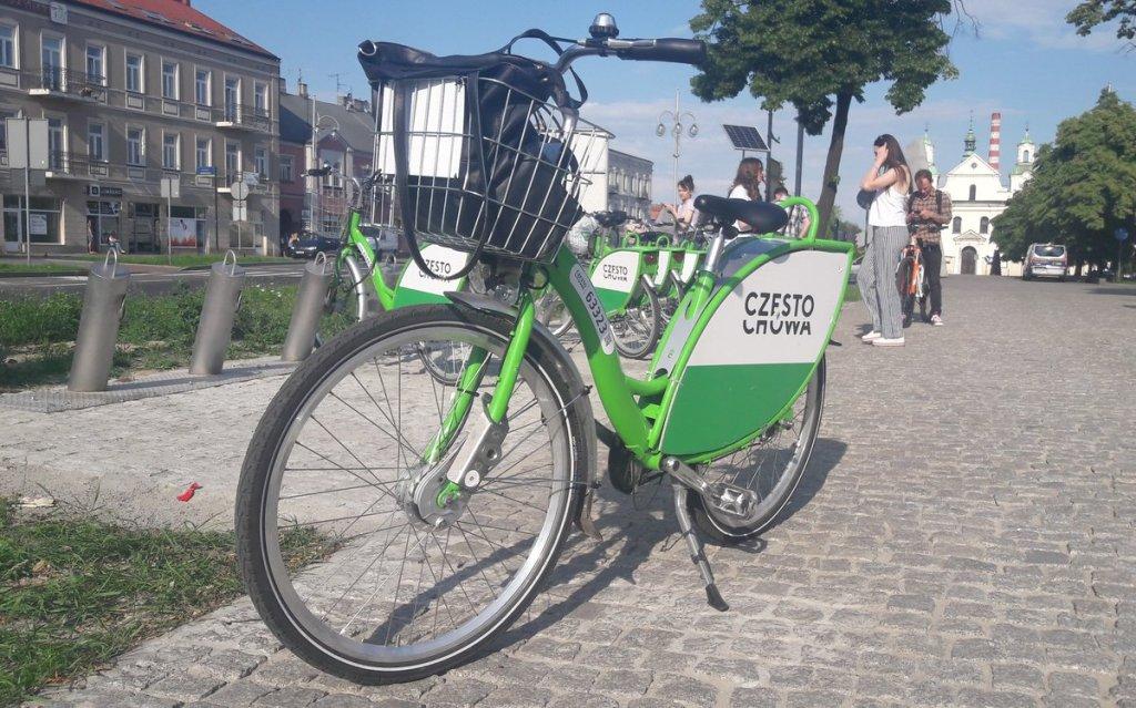 rowery miejskie w Częstochowie - wycieczka