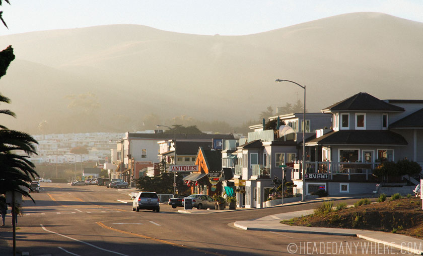 Cayucos at sunset