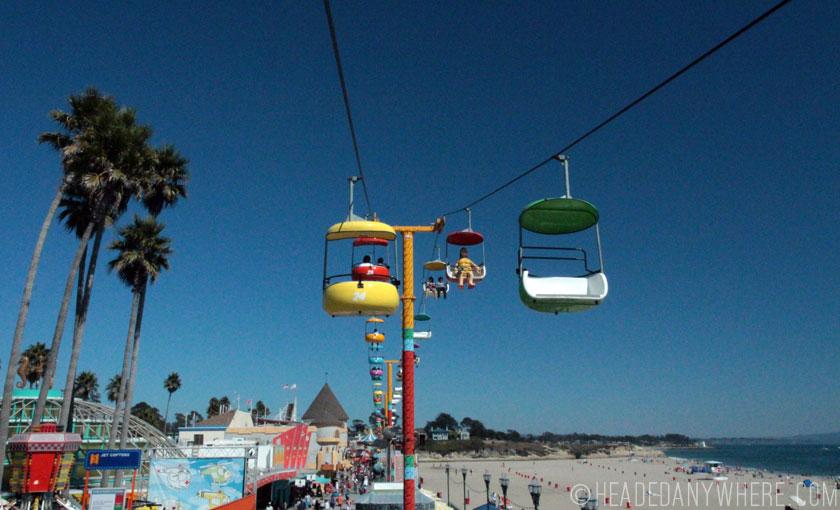 Santa Cruz Boardwalk from sky tram