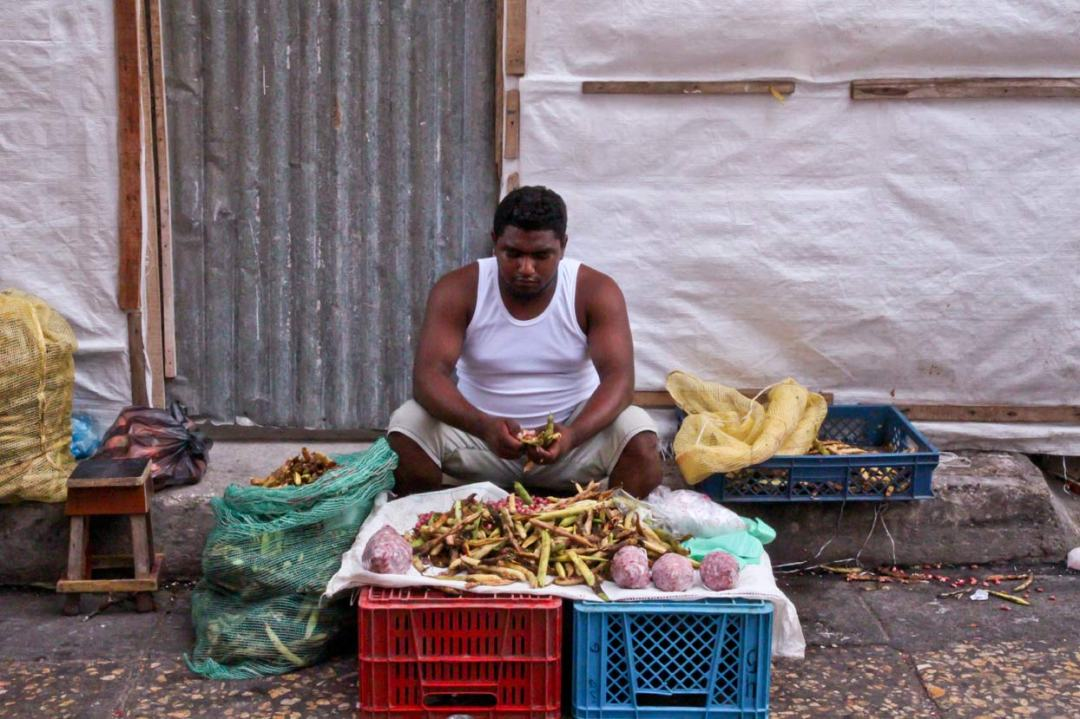 Fava bean vendor, Cartagena Colombia