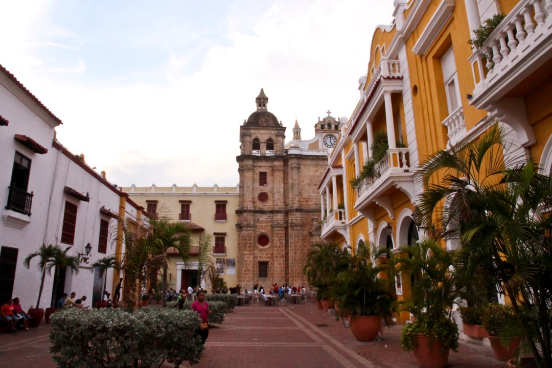 Main square in Cartagena, Colombia