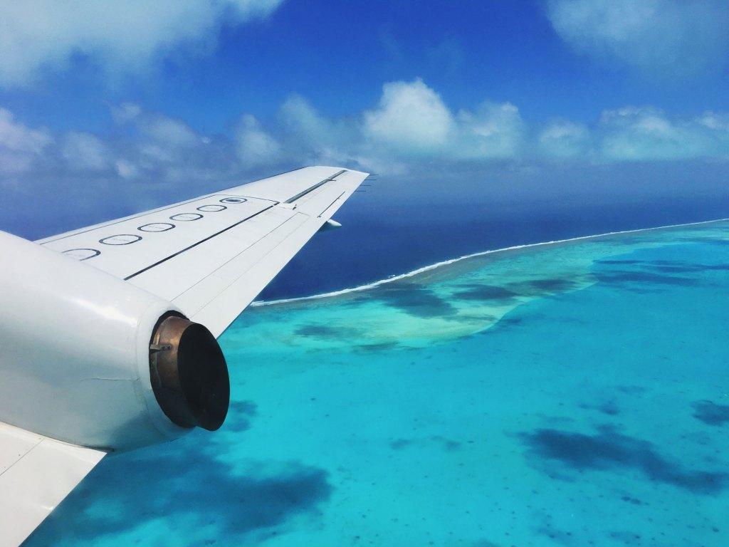 Flying Over Aitutaki Lagoon