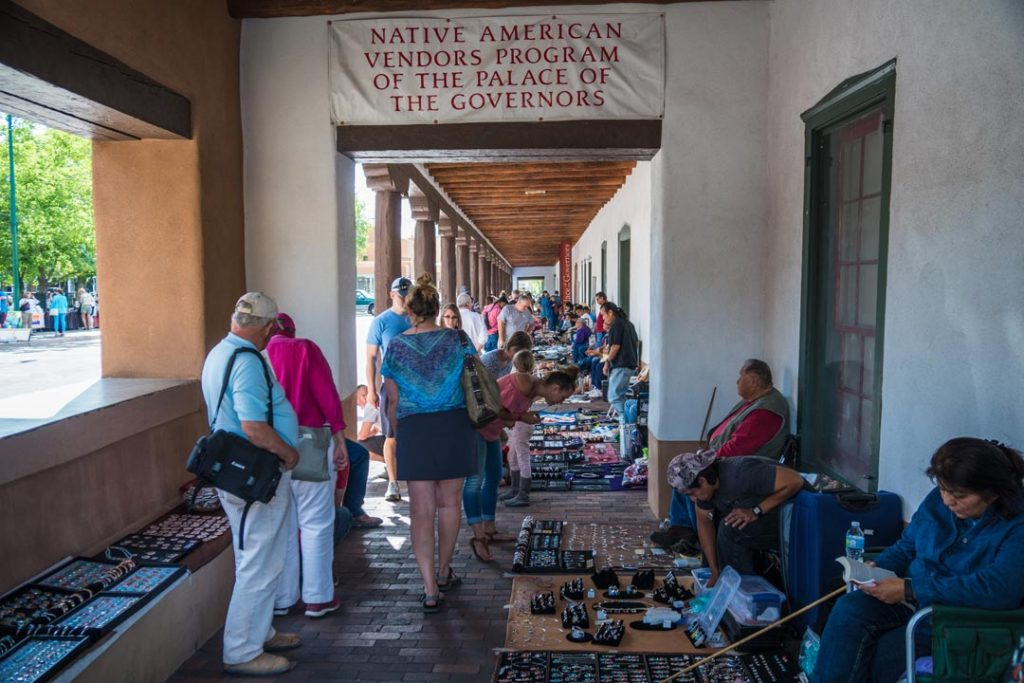 Native Americans Vendors Market Santa Fe New Mexico