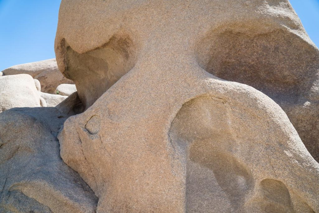 Skull Rock from below in Joshua Tree
