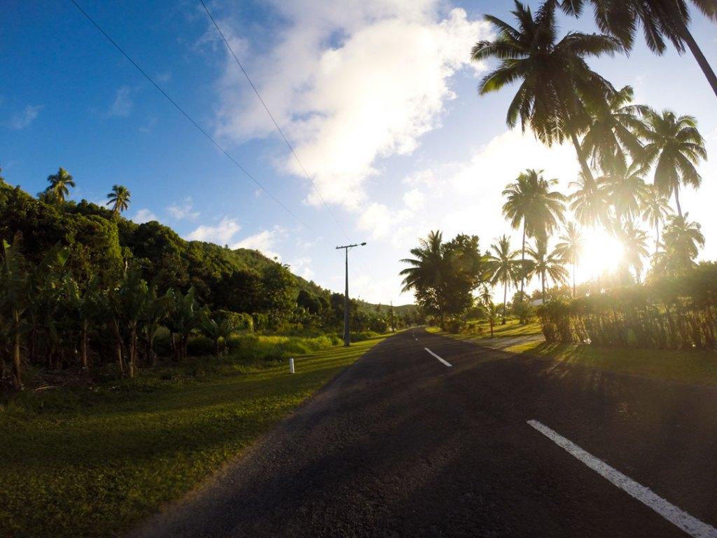 Sunset on Aitutaki, Cook Islands