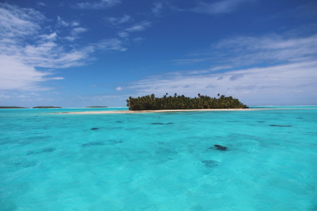 Motu in Aitutaki, Cook Islands