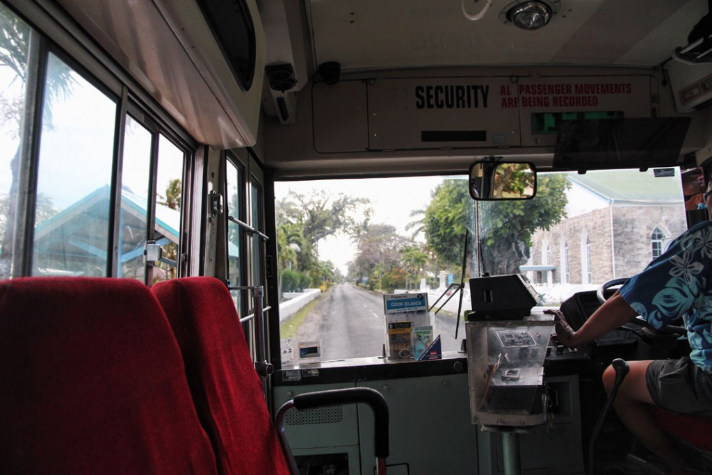 Bus ride on Rarotonga Cook Islands