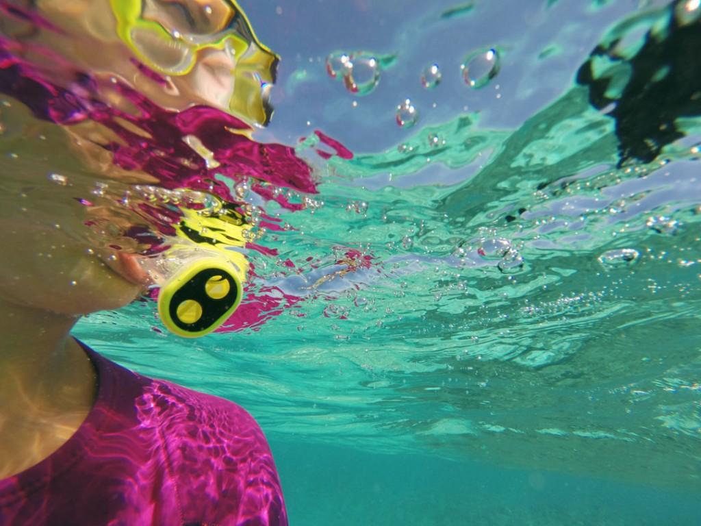 Snorkeling in Muri in Rarotonga lagoon in the Cook Islands