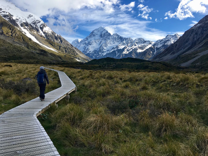 Hiking Hooker Valley New Zealand Road Trip