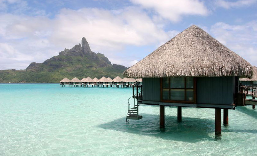 Over water bungalow in Bora Bora
