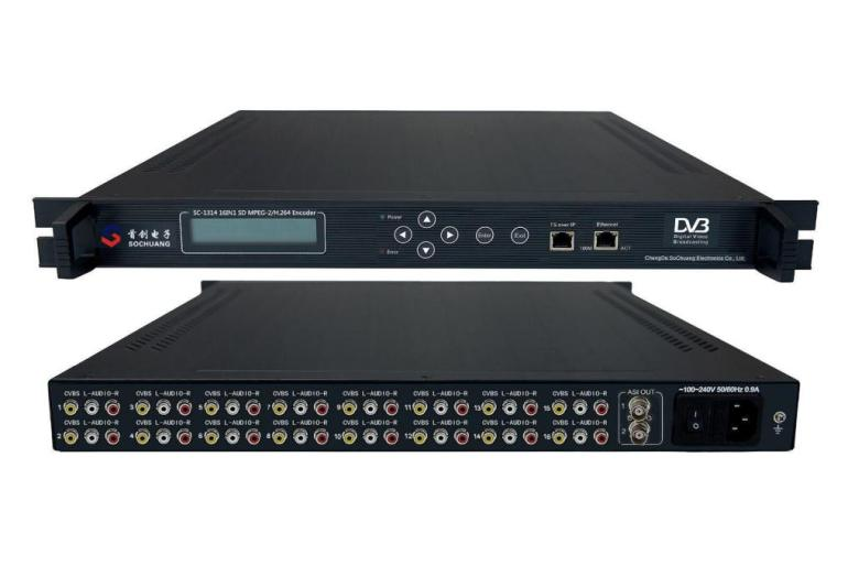 SC-1314 MPEG-2/H.264 16IN1 IP Encoder