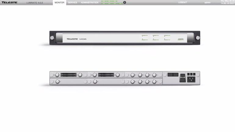 Teleste Luminato QAM Backup Teleste Luminato Monitor Tab