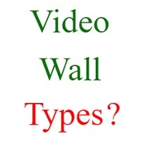 video wall types
