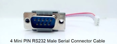 4 Mini PIN RS232 Male Serial Connector Cable RS232 Cables stb