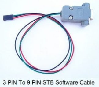 3 pin to 9 pin rs232 stb software cable