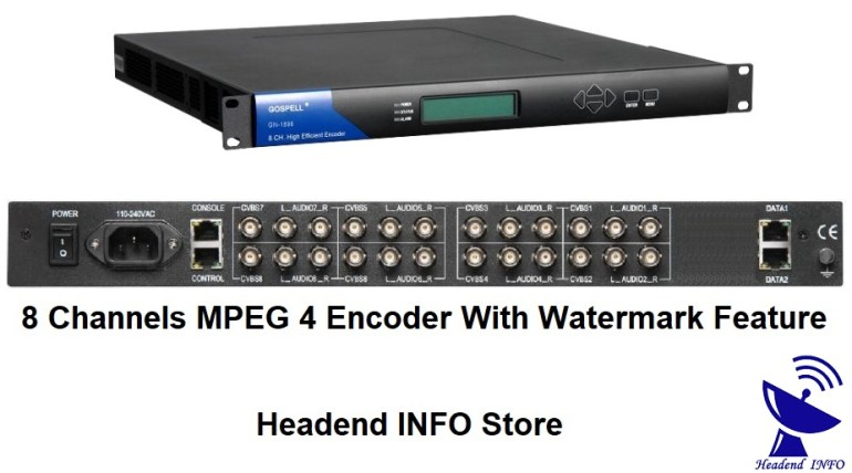 8 Channels MPEG 4 Encoder With Watermark Feature buy