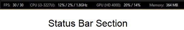 xsplit broadcaster status bar