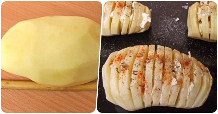 С пылу с жару: картофельные слайсы, запеченные с сыром