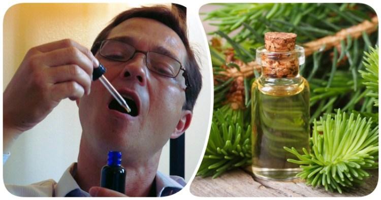 Капля на язык и вы здоровы: избавиться от кашля, простуды и боли в горле поможет пихтовое масло