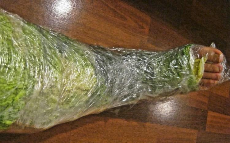 Обертывание капустными листьями для лечения боли в ногах