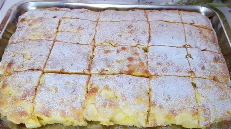 Готовим по-быстрому пушистый яблочный пирог, который буквально тает во рту
